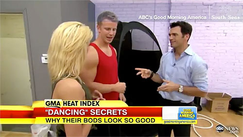 Good Morning America Reveals Spray Tan Secret